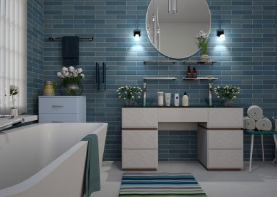 Blue Theme Bathroom
